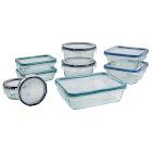 Snapware Total Solutions 18-Piece Pyrex Glass Food Storage Set