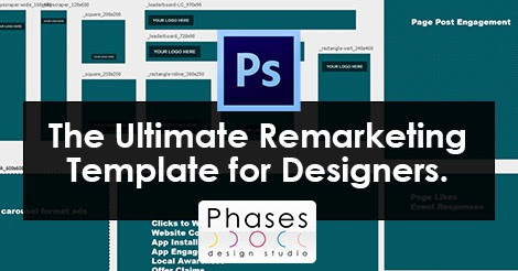 Remarketing Ads Photoshop Template for Graphic Designers
