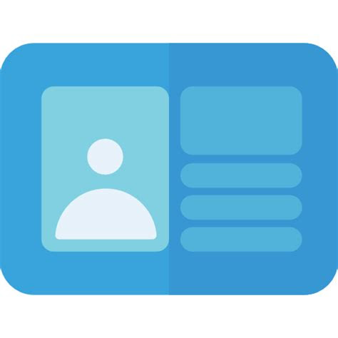id card  business icons