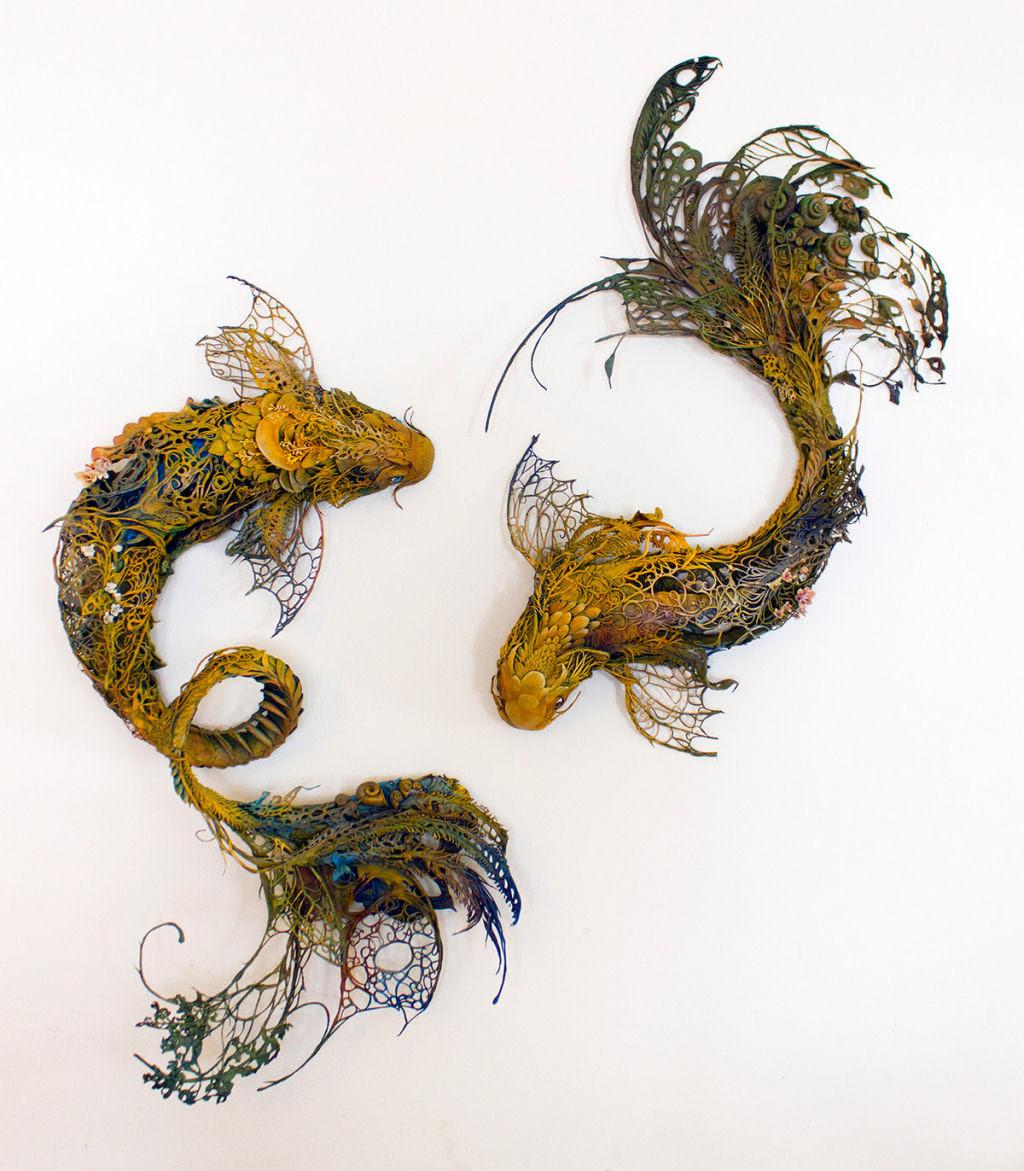 As esculturas surrealistas de Ellen Jewett mesclam plantas e vida animal 03