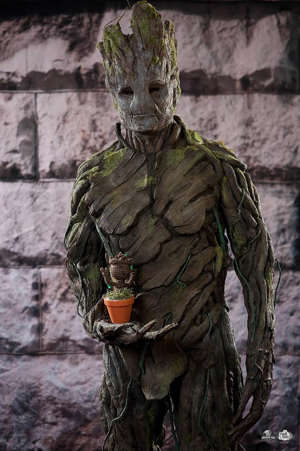 Impresionante cosplay de Groot hecho por un fan