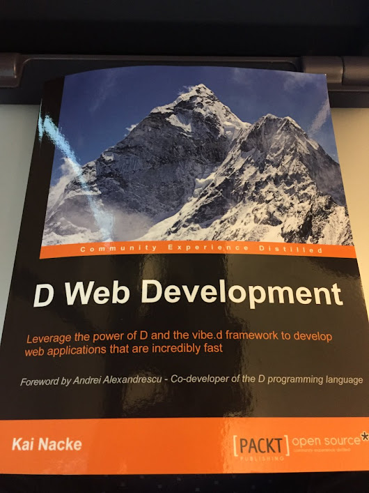 "Stephan Dilly on Twitter: ""Great! My copy of ""D Web Development"" arrived - look who was a reviewer :P #dlang  """