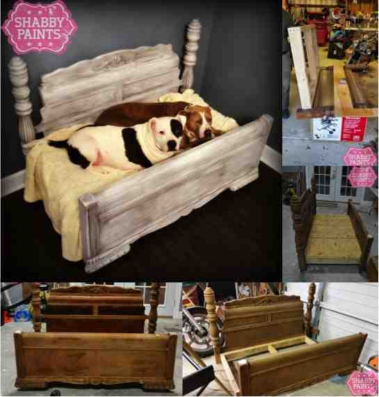 Diy Bed Frame Upcycled To Gorgeous Pet Bed Do It Yourself Fun Ideas