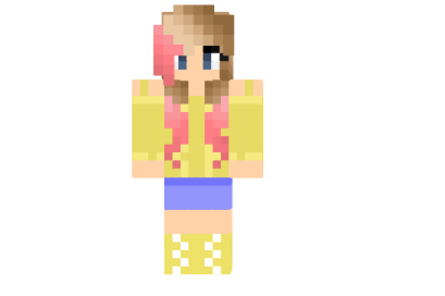 Fluttershy Please Read Skin - Minecraft mod
