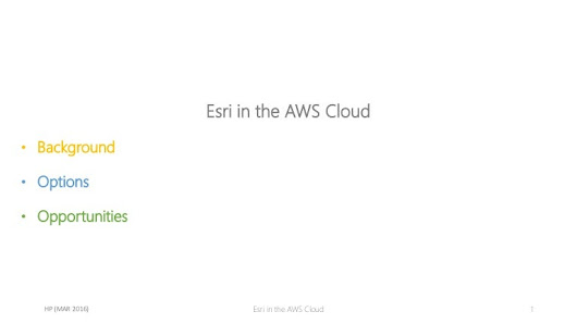 Esri in AWS Cloud