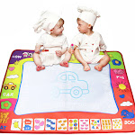 New Water Drawing Painting Writing Mat Board Magic Pen Doodle Gift 80x60cm
