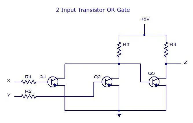 2-Input Transistor OR Gate