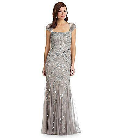 Adrianna Papell CapSleeve Bead Dress #Dillards. Mother of