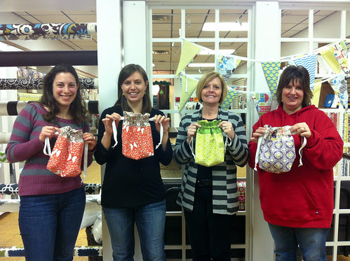 Lined Drawstring Bag Class by Jeni Baker
