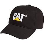 Cat Men's Black Trademark Logo Cap
