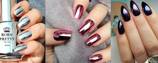 Beautiful Metallic Chrome Nail Art Designs & Tutorial Step by Step
