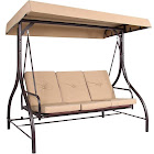 Best Choice Products Converting Outdoor Swing Canopy Hammock Seats, Tan - 3 count