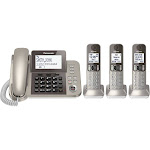 Panasonic KX-TGF353N Expandable Phone System with 2 Handsets - Champagne Gold