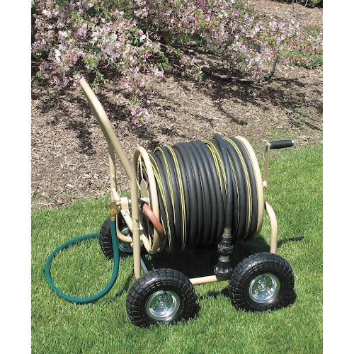 liberty garden 870 a 4 wheel indust hose cart tan - Liberty Garden