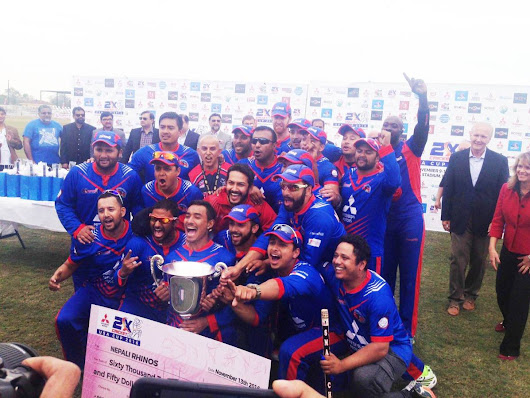 Nepali Rhinos makes history in first 2xCricket USA cup