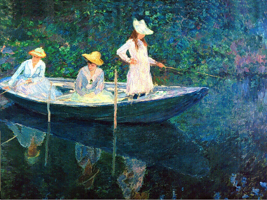 Image result for claude monet ladies painting