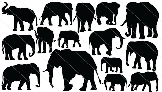 Elephant Silhouette Vector Download