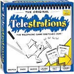 USAopoly Telestrations the Telephone Game Sketched Out