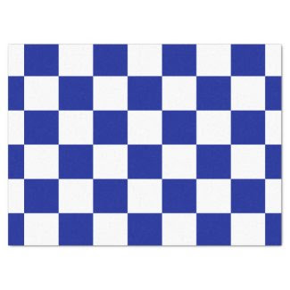 "Royal Blue and White Checkered Pattern 17"" X 23"" Tissue Paper"