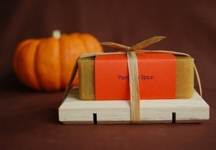 Thank you for Thanksgiving Gift Set with Pumpkin Spice all natural soap and a wooden dish