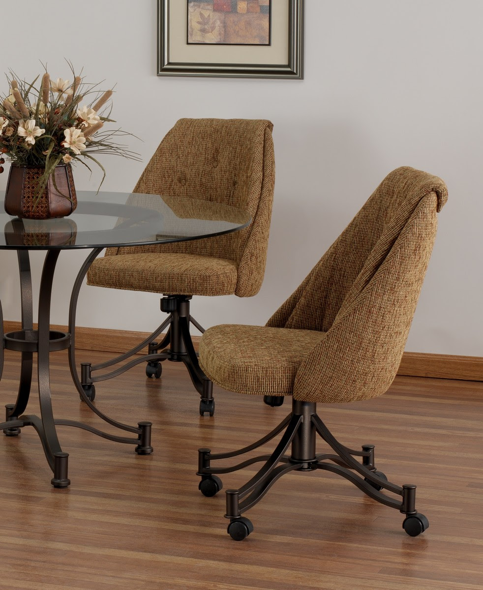 Home Decoration Dining Room Chairs With Casters For Seniors