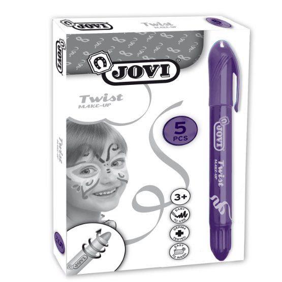 Jovi Twist Stick 5 Li Mor Yüz Boyama Kalemi