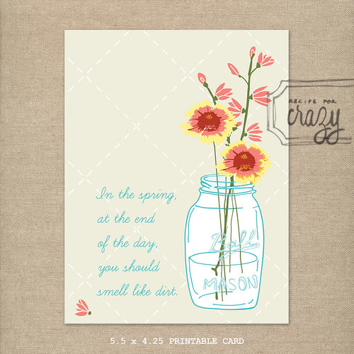 wildflower printable by recipeforcrazy