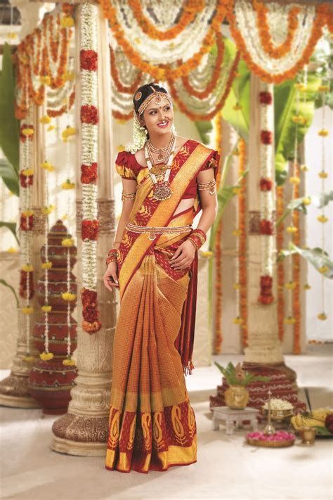 Brocade sari, which is what all the brides are wearing