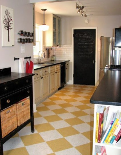 Image result for vintage checker board kitchen floor tile