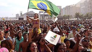 Manifestantes no Rio de Janeiro. | Foto: AP