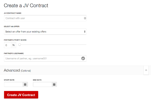 20th November 2014 - You can now create JV Contracts on Warrior Payments