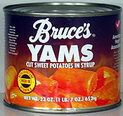 Photo: Can of Bruce's Yams