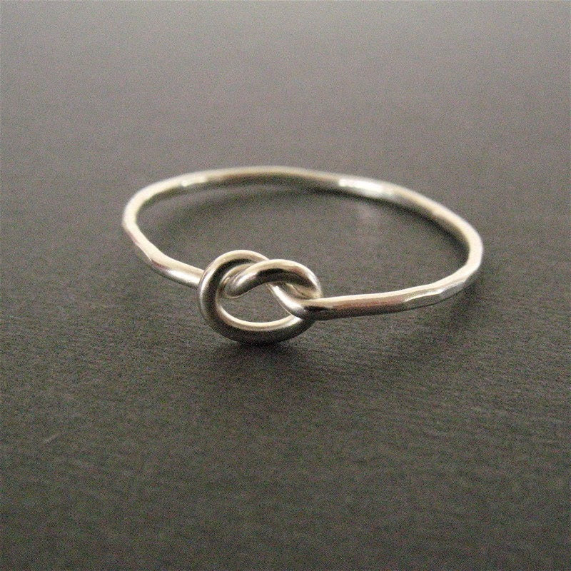 Forget Me Knot - eco-friendly fine silver knot ring