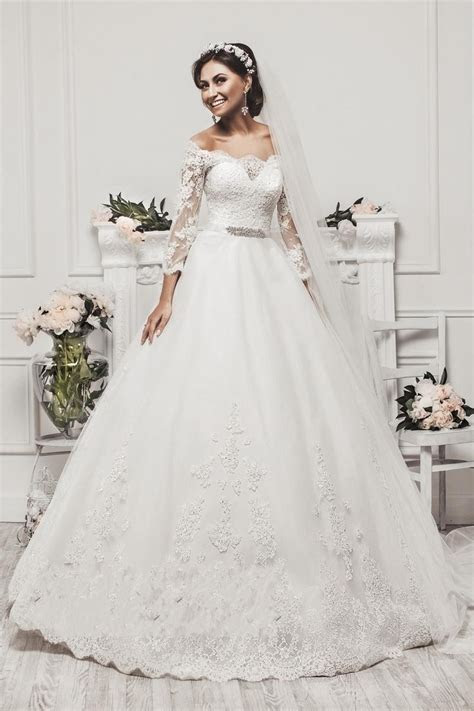 Delicate Tulle Lace Appliques 2016 Wedding Dress 3/4