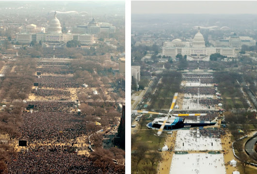 From Obama to Trump: How the inaugurations looked in 2009 and 2017