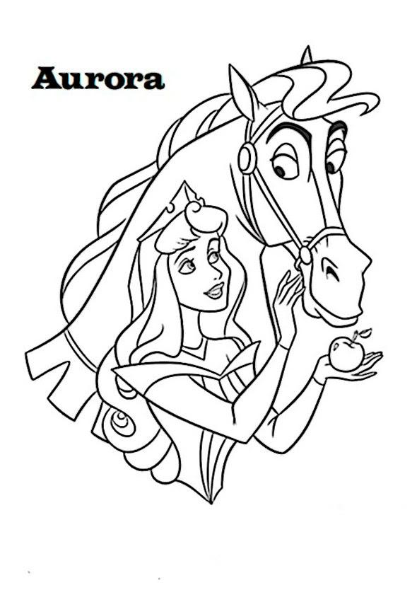 ausmalbild prinzessin auf pferd