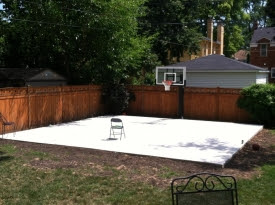 Pictures Of Basketball Courts In The Backyard