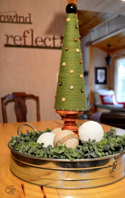 How To Make A Cone Christmas Tree - Rustic Crafts & Chic Decor