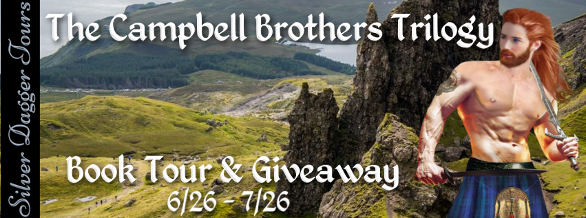 Book Banner for Book Tour & $25 Amazon Gift Card Giveaway for Historical Romance The Campbell Brothers Trilogy