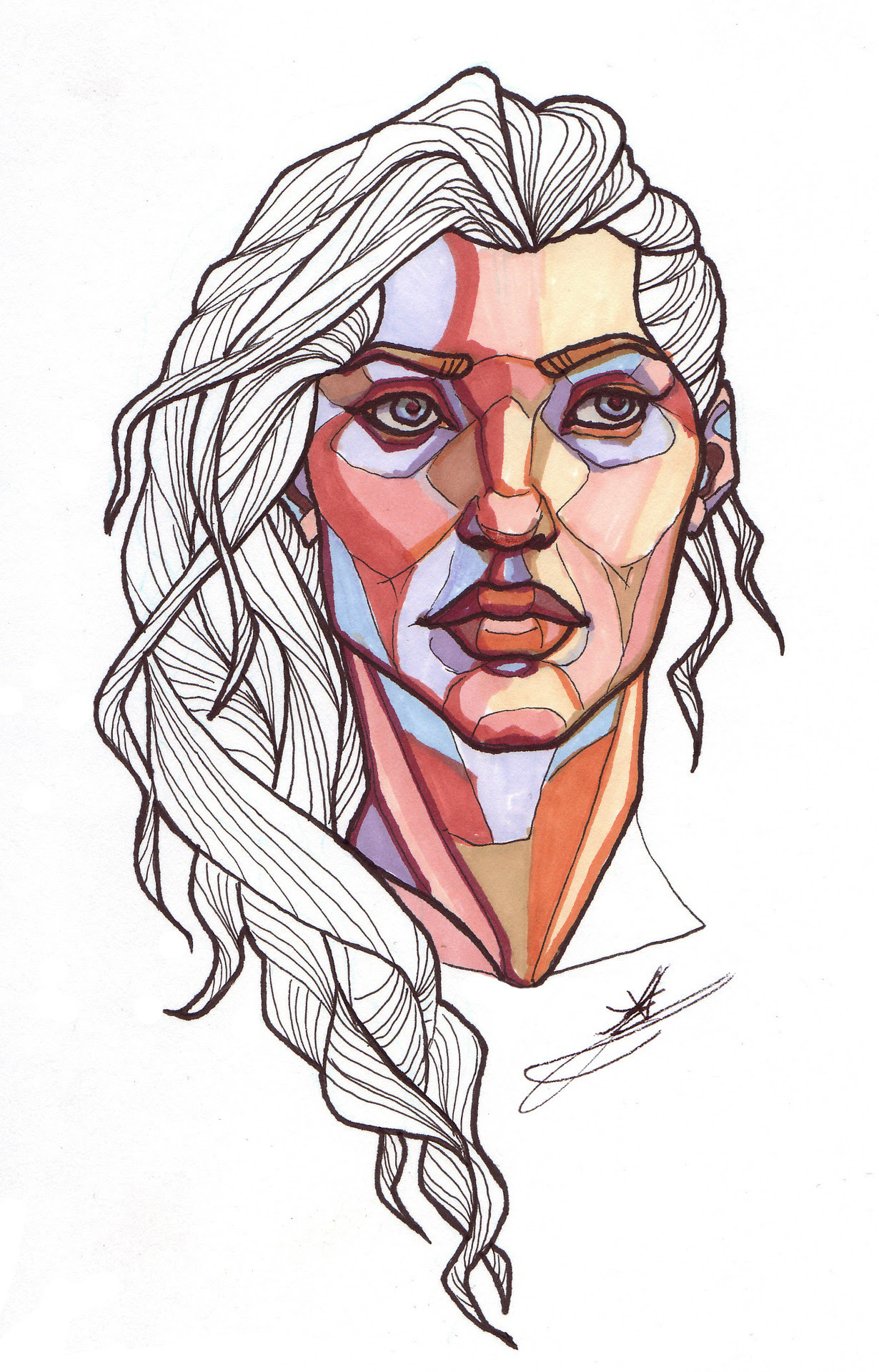 It's Sketchy Tuesday! Watch every Tuesday for sketches, fan art, life drawings, and other bits and pieces from me. This week is two pieces done in marker, playing with colour blocking. The first is a...