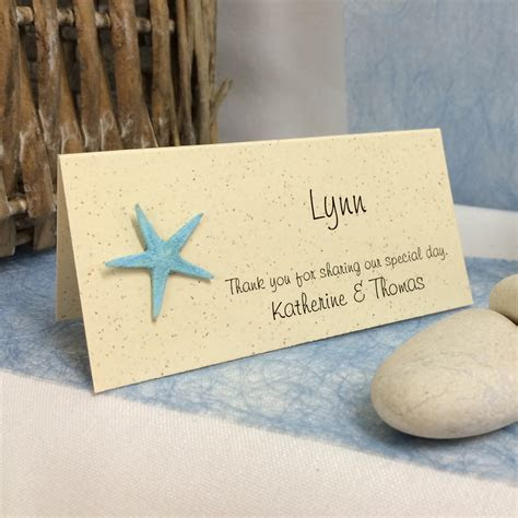 Wedding Place Cards   Beach Theme