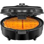 CHEFMAN - Belgian Anti-Overflow Waffle Maker - Black