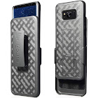 Aduro Samsung Galaxy S8 Holster Super Slim Shell Case, Black