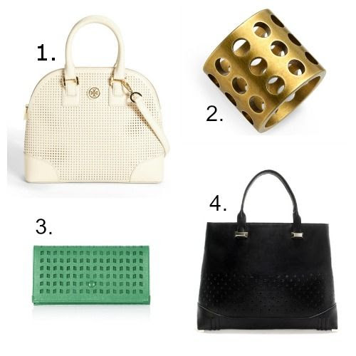 Perforated Leather Trend - Perforated Leather Accessories