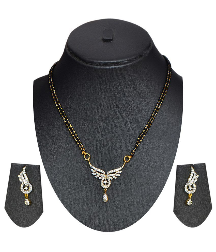 Buy Pourni American Diamond Mangalsutra Online in India on Snapdeal