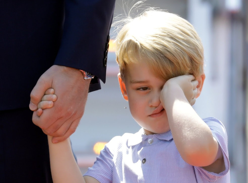 Príncipe George desembarca em Berlim  (Foto: REUTERS/Kay Nietfeld/POOL)