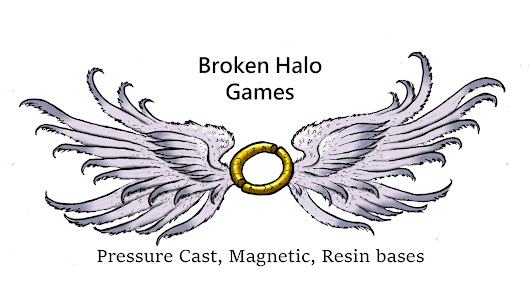 Magnetic Resin Miniature Bases by Broken Halo Games