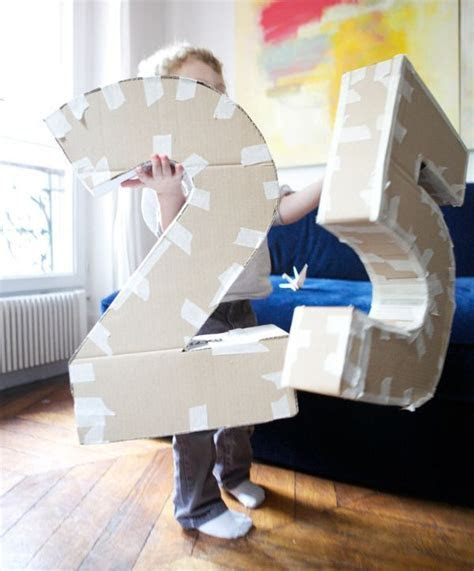 DIY Make your own life size cardboard letters/numbers