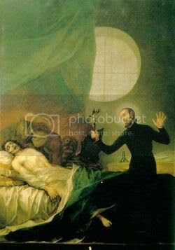 Saint Francis Borgia performs an exorcism