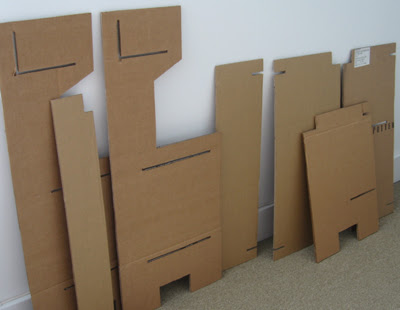 Toy Kitchen - cardboard parts